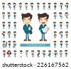 Set of businessman character , eps10 vector format - stock