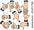 Set of Businessman Hand Gestures-detailed vector design elements-- to see more hands  please visit to my gallery - stock vector