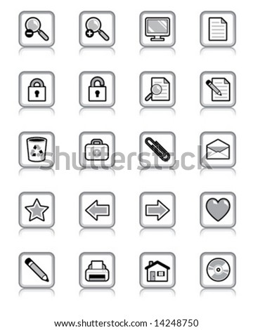 Set of buttons for website or interface. Vector illustration.