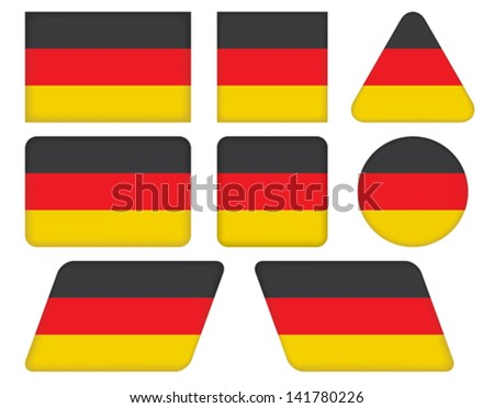 set of buttons with flag of Germany