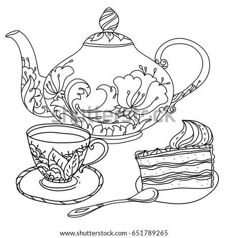 Black And White Pot Cake