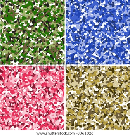 Set of 4 camouflage pattern,vector