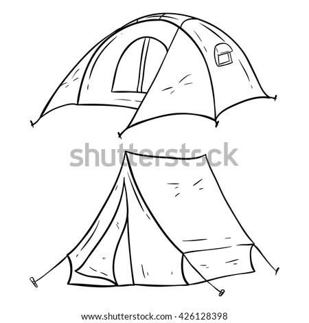 Set of C&ing Tent With Doodle or Sketchy Style  sc 1 st  Shutterstock & Set Camping Tent Doodle Sketchy Style Stock Vector 426128398 ...