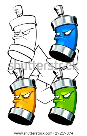 Stock Images similar to ID 47978662 - drawing of a spray can