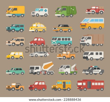 Set of car icon , eps10 vector format - stock vector