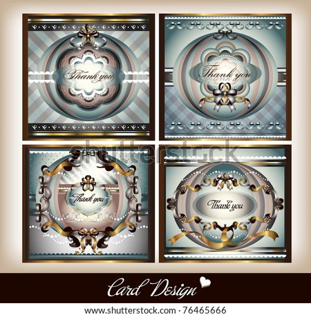 set of card design - stock vector