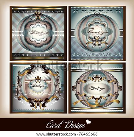 set of card design - stock vector