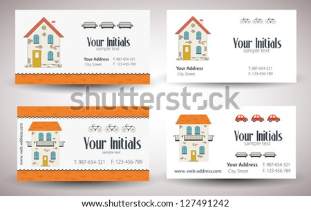 Set of cards. Vector - stock vector