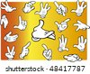 Set of cartoon hands expressing several different emotions - stock vector