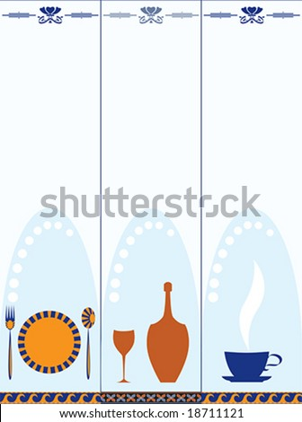 set of catering banners - stock vector