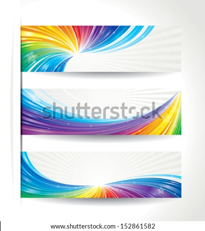 Set of celebration colorful wave backgrounds. - stock vector