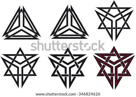 Set of celtic design elements - stock vector