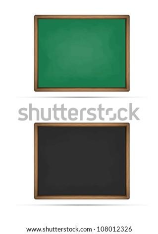 set of chalkboard - stock vector