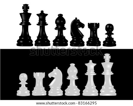 Set of chess - stock vector