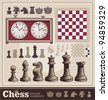 Set of Chess Design Elements - stock photo