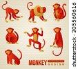 set of chinese zodiac   monkeys....