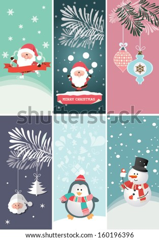Set of Christmas and New Year's banners. Vector illustration