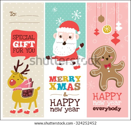 set of Christmas banner design - stock vector