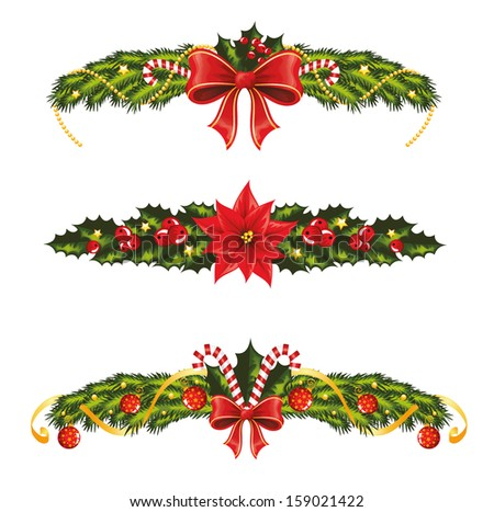 Set of christmas banners.  - stock vector
