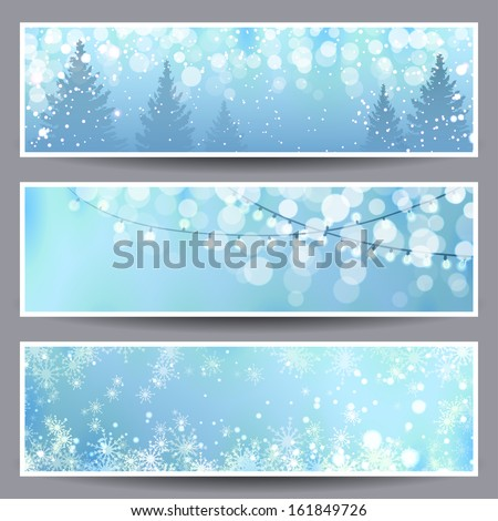 Set of Christmas Banners. Vector illustration, eps10. - stock vector