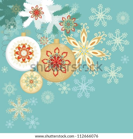 set of christmas card decoration - stock vector