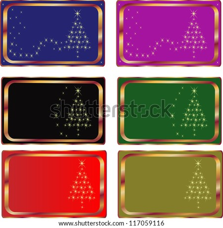 Set of Christmas cards, illustration. 10 EPS. - stock vector