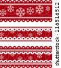 set of christmas decorative banners in vector format very easy to edit - stock photo