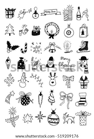 Set of Christmas Doodles