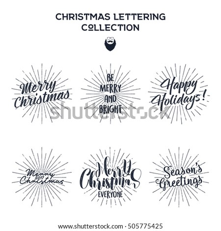 Set christmas new year 2017 lettering stock vector 505775425 set of christmas new year 2017 lettering wishes sayings and vintage labels m4hsunfo