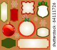Set of Christmas vector frames and ornaments for your text. Perfect as invitation or announcement - stock vector