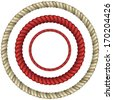 set of Circular rope. realistic vector eps10   - stock vector