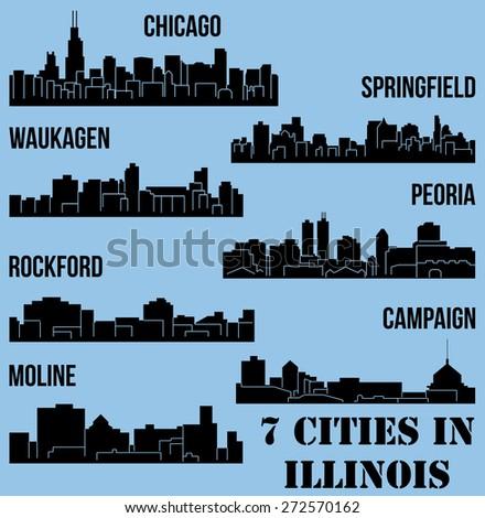 Landmark Springfield Il >> Cities Ohio Columbus Akron Toledo Dayton Stock Vector 257884727 - Shutterstock