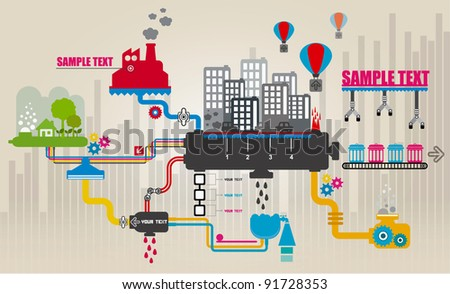 Set of city infographics, City Information Graphics - stock vector