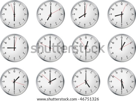 Set of clock whith business time