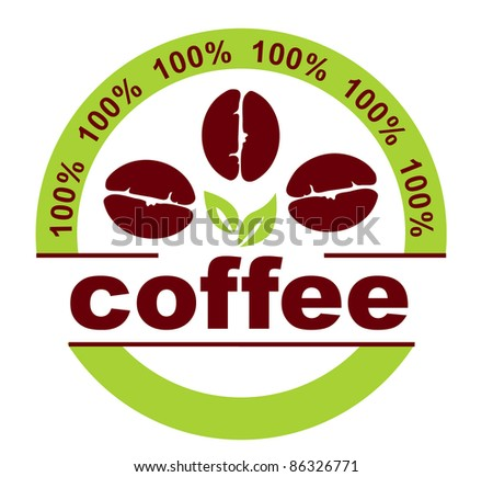 Set of coffee label designs. - stock vector