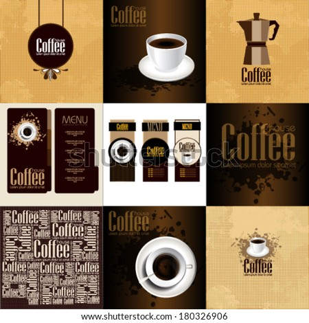 Set of  Coffee Menu for restaurant - stock vector
