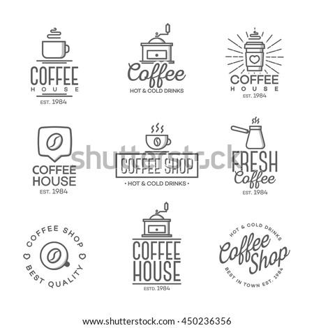 Coffee house stock images royalty free images vectors set of coffee shop logo isolated on white background vector design elements business signs malvernweather Image collections