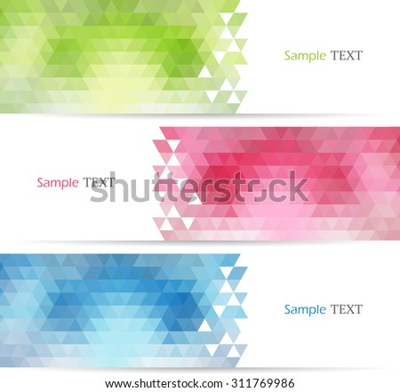 Set of color banners. Vector illustration - stock vector