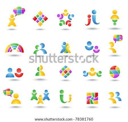 Set of color icon - stock vector