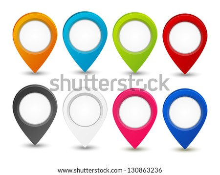 Set of color map pointers - stock vector