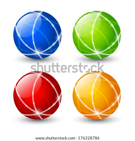 Set of color round icons - stock vector
