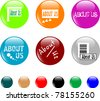set of colored about us button. vector - stock photo