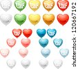 Set of colored balloon Hearts. Vector collection. - stock vector