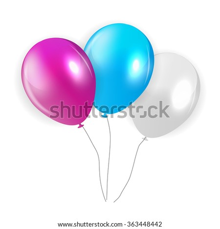 Set of Colored Balloons, Illustration. EPS 10 - stock vector