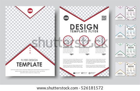 Set Colored Flyers A 4 Template 2 Stock Vector 526181572 Shutterstock