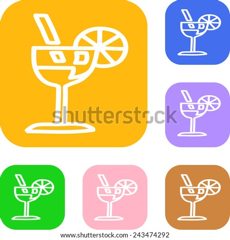 Set of colored fresh juice - stock vector