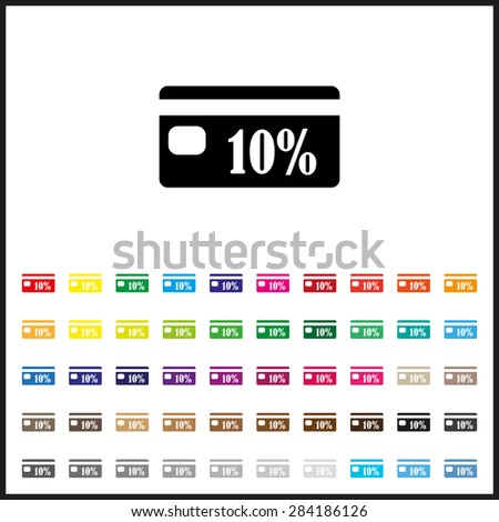 Set of colored icons. Discount label. icon. vector design - stock vector