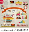 Set of colored Infographic Elements. - stock vector