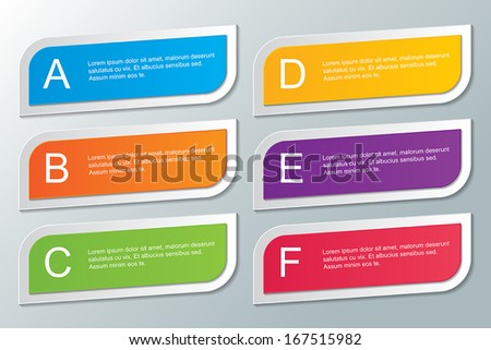 set of colored rectangle infographic templates. infographic elements. vector. - stock vector