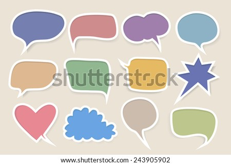 Set of colored speech bubbles - stock vector